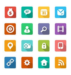 set of trendy flat icons vector image