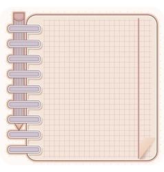 sketch book and pencil vector image