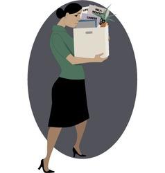Woman lost her job vector image vector image