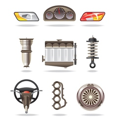 Car parts and accessories vector image vector image