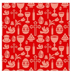 easter seamless patterns vector image