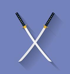 Icon of Katana swords Flat style vector image