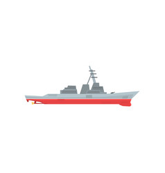 navy battleship icon military ship with large vector image