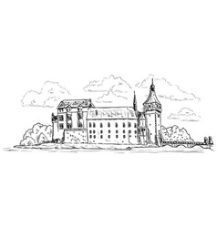 palace and castle blatna vector image vector image