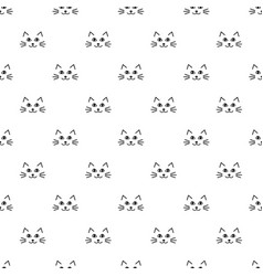 pattern with cute cat faces vector image