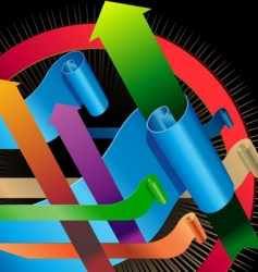arrows 3d element vector image