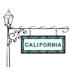 California retro pointer lamppost vector image vector image