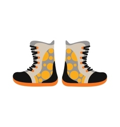 Camping sport walking boots in flat style vector image