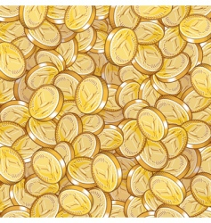 coin pattern vector image vector image