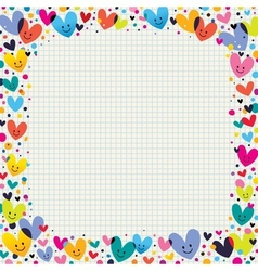 cute hearts border vector image