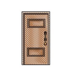door wood entry place vector image
