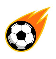 sport ball fire soccer vector image vector image