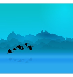 Morning background vector image vector image
