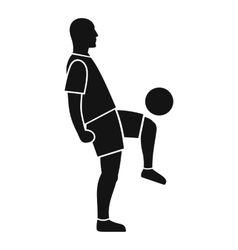 Soccer player man icon simple style vector image