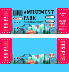ticket amusement park vector image