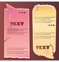 vintage paper speech bubble vector image vector image