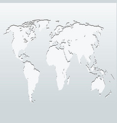 world map on a gray background vector image