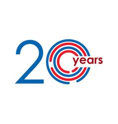 20 year anniversary logo template design vector