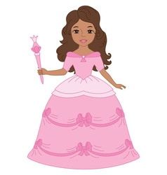 African American Princess vector image