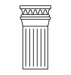 ancient column icon outline style vector image