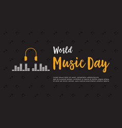 Banner style world music day collection vector