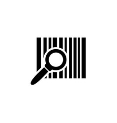 Barcode search find bar code flat icon vector