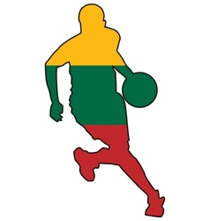 basketball colors of Lithuania vector image