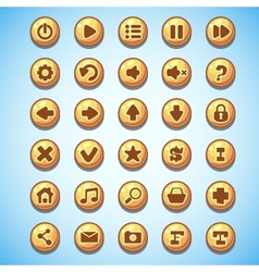 Big set round buttons cartoon computer game vector
