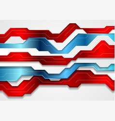 Blue and red abstract technology background vector