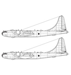 boeing b-50 superfortress vector image