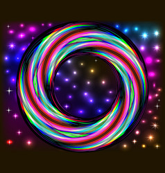 bright background with space stars and spiral vector image