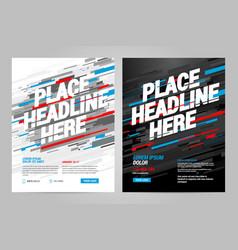 Brochure layout template design vector