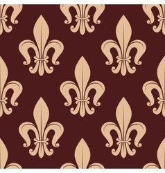 Brown and beige royal seamless pattern vector
