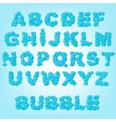 bubble abstract alphabet vector image