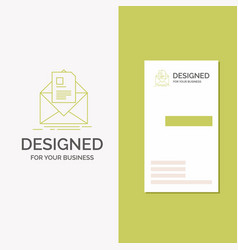 business logo for mail contract letter email vector image
