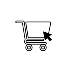cart commerce shopping line image icon vector image