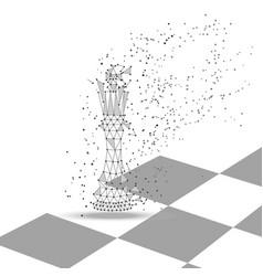 chess king polygonal figure vector image
