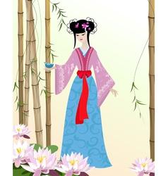 China girl5 vector image vector image