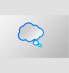 Comic think speech bubbles icon vector