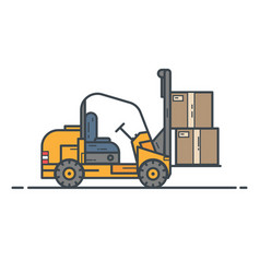 Counter-balanced forklift truck vector