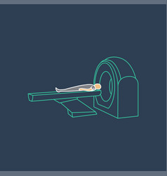 ct scanner machine icon symbol vector image