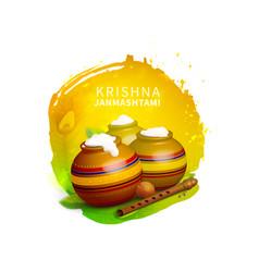 Dahi on krishna janmashtami indian festival vector