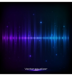 Dark blue shining equalizer vector image
