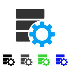 Database options gear flat icon vector