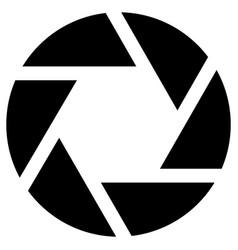 Diaphragm camera lens symbol photographing movie vector