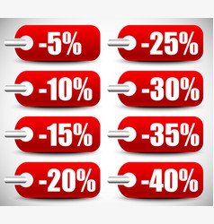 discount tags set vector image