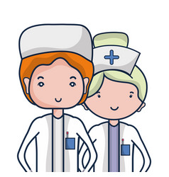 doctor and nurse to help people vector image
