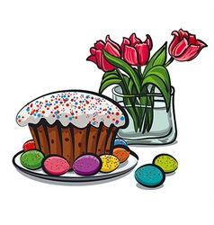 Easter still life vector