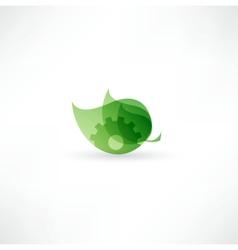 Eco Gear Icon vector
