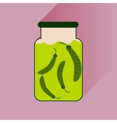 Flat icon with long shadow canned peas vector
